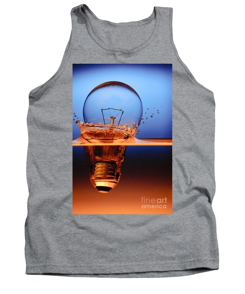 Light Bulb And Splash Water Tank Top by Setsiri Silapasuwanchai