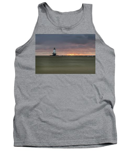 Lighthouse And Sunset Tank Top