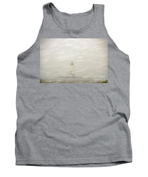 Lighthouse In Snowstorm Tank Top