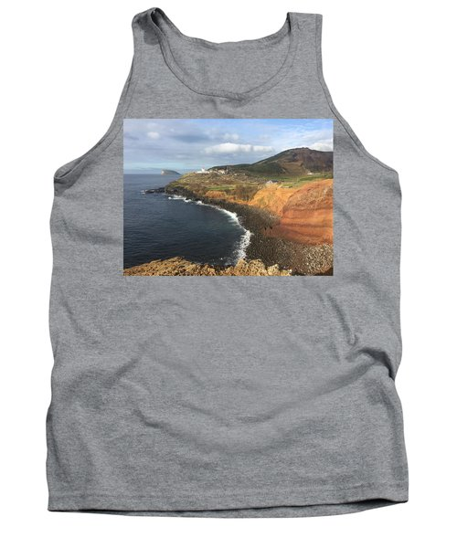 Lighthouse On The Coast Of Terceira Tank Top