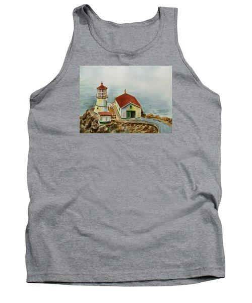 Lighthouse Point Reyes California Tank Top