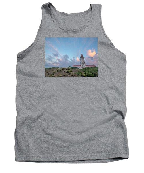 Lighthouse Sunrise At Cape Espichel Tank Top