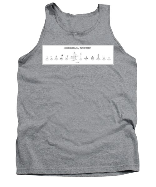 Lighthouses Of The Pacific Coast Tank Top