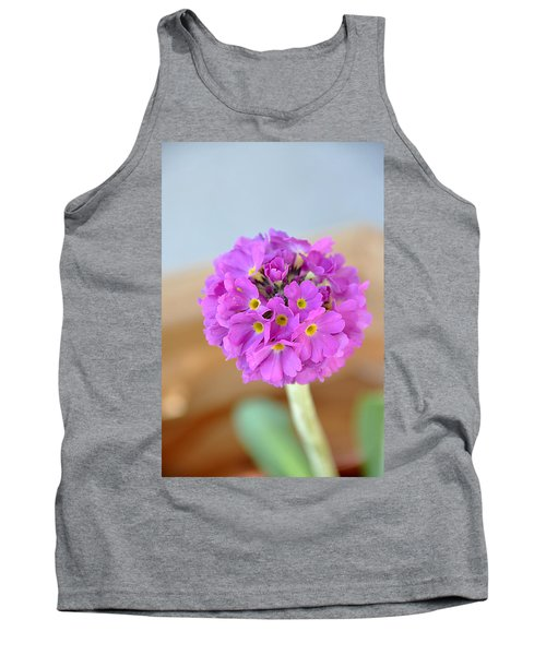 Tank Top featuring the photograph Single Pink Flower by Marion McCristall