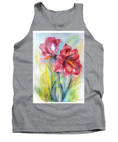 Lily Red Tank Top by Jasna Dragun