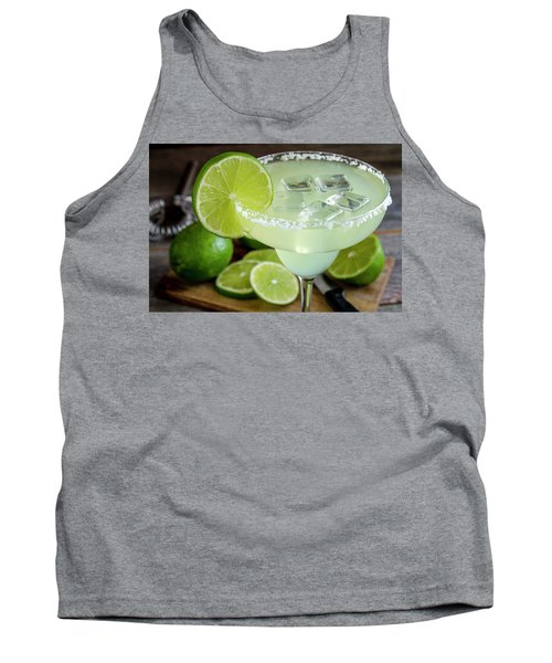 Tank Top featuring the photograph Lime Margarita Drink by Teri Virbickis