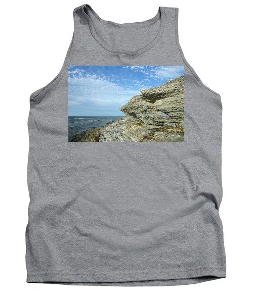 Tank Top featuring the photograph Limestone Cliffs by Kennerth and Birgitta Kullman