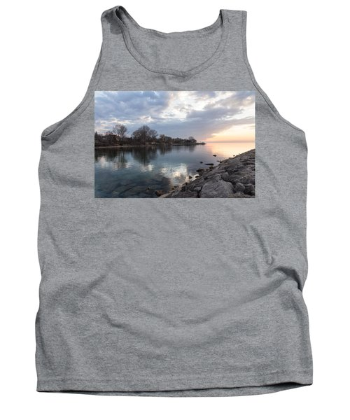 Limpid - Crystal Clear Peaceful Waterfront Sunrise Tank Top