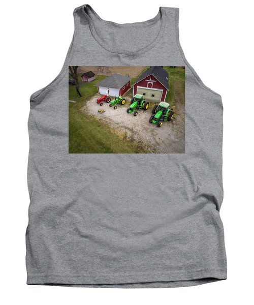 Lining Up The Tractors Tank Top