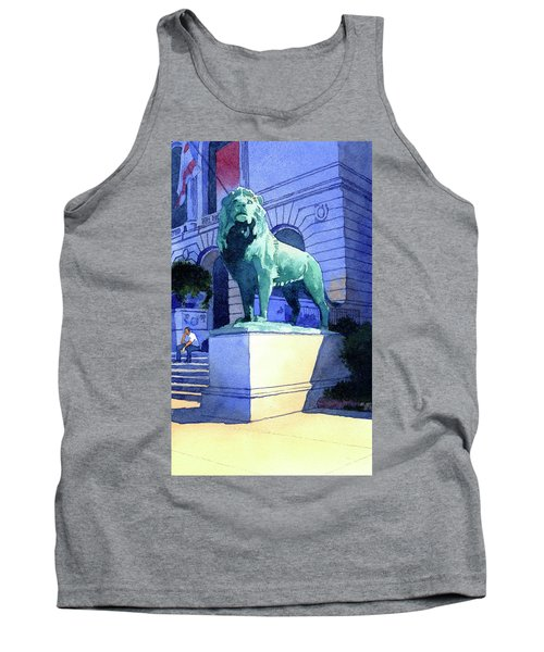 Lion At The Art Institue Of Chicago Tank Top
