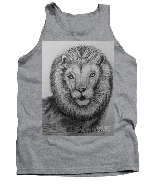 Tank Top featuring the painting Lion by Brindha Naveen