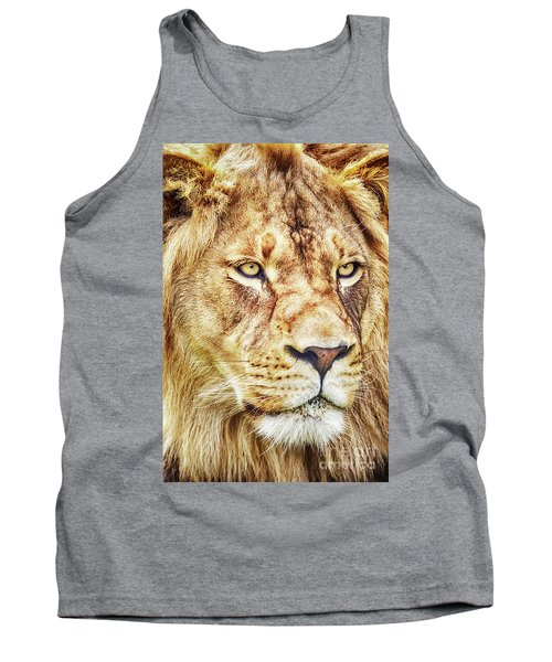 Lion-the King Of The Jungle Large Canvas Art, Canvas Print, Large Art, Large Wall Decor, Home Decor Tank Top