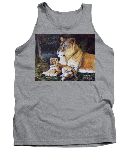 Lioness And Cub Tank Top by Ruanna Sion Shadd a'Dann'l Yoder