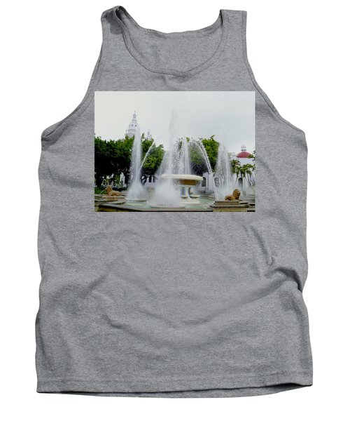 Lions Fountain, Ponce, Puerto Rico Tank Top
