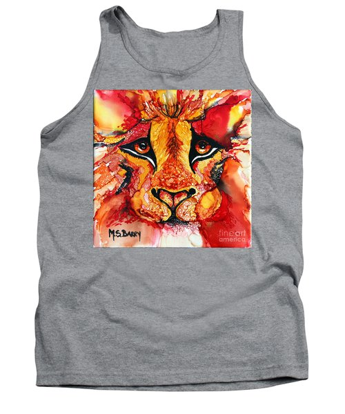 Lion's Head  Red Tank Top