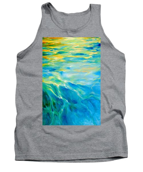 Tank Top featuring the painting Liquid Gold by Dina Dargo