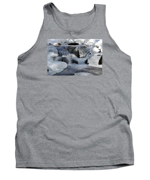 Tank Top featuring the photograph Winter Waterfall In Maine by Glenn Gordon