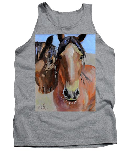 Tank Top featuring the painting Litchfield Homies by Pattie Wall