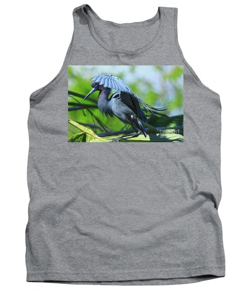Tank Top featuring the photograph Little Blue Heron Alligator Farm by Deborah Benoit
