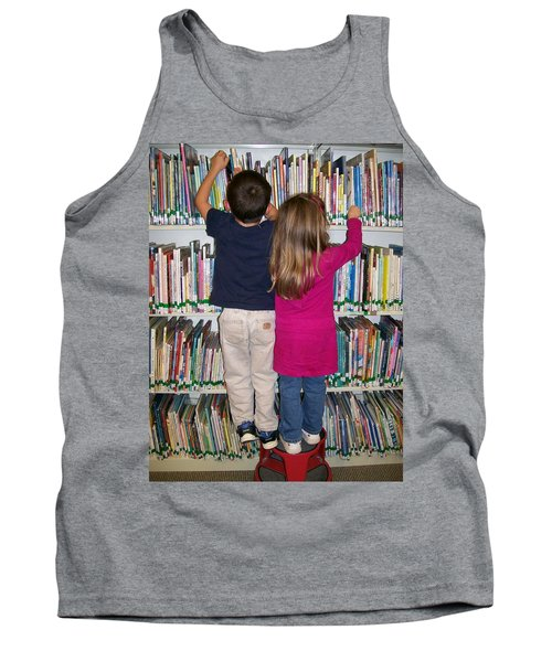 Tank Top featuring the digital art Little Bookworms by Barbara S Nickerson