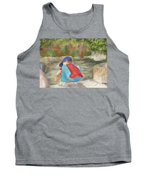 Little Boy At Japanese Garden Tank Top