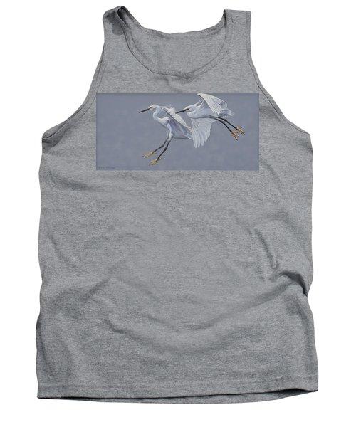 Little Egrets In Flight Tank Top