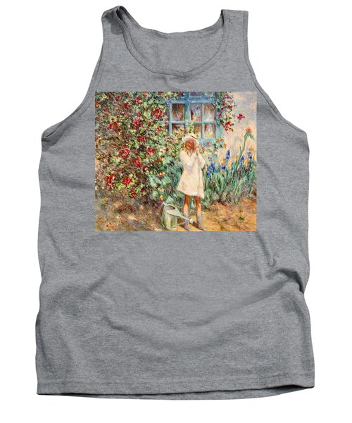 Little Girl With Roses  Tank Top