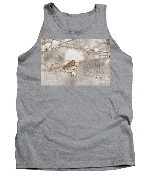 Tank Top featuring the photograph Little House Sparrow by Lila Fisher-Wenzel