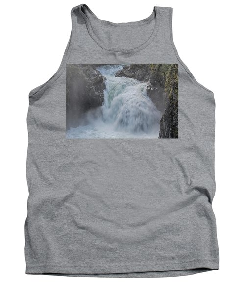 Tank Top featuring the photograph Little Qualicum Upper Falls by Randy Hall