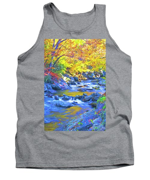 Little River In Autumn Tank Top