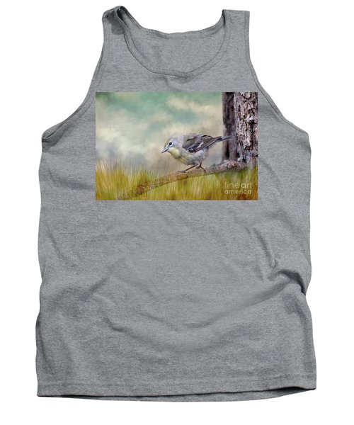 Tank Top featuring the photograph Little Warbler In Louisiana Winter by Bonnie Barry