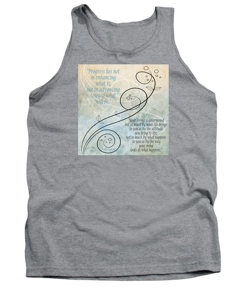 Tank Top featuring the digital art Living by Angelina Vick