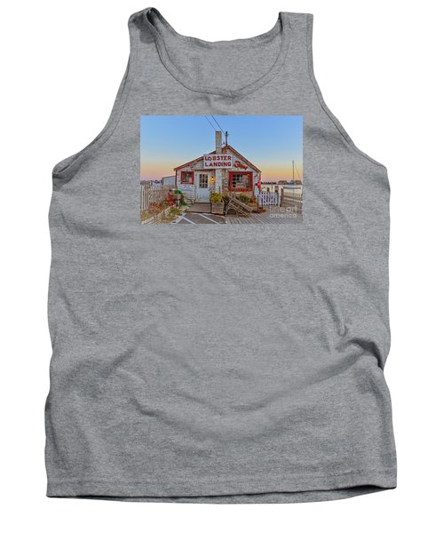 Tank Top featuring the photograph Lobster Landing Sunset by Edward Fielding
