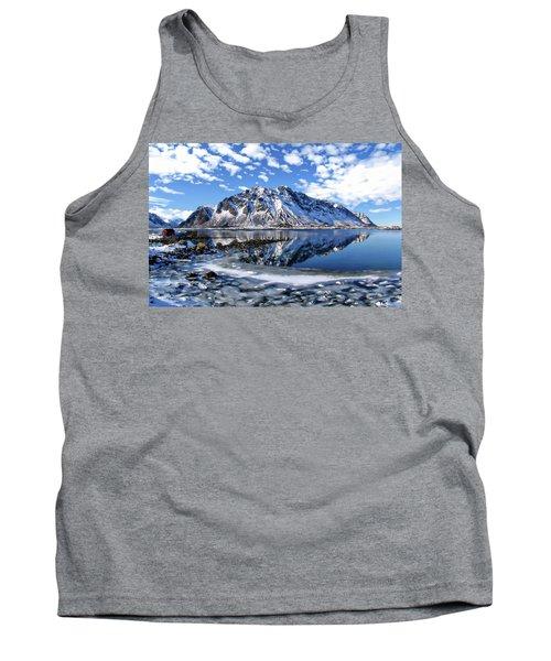 Lofoten Winter Scene Tank Top