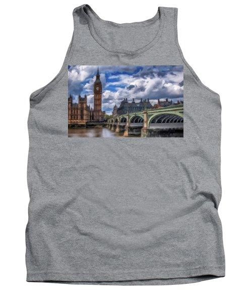 London Big Ben Tank Top by David Dehner