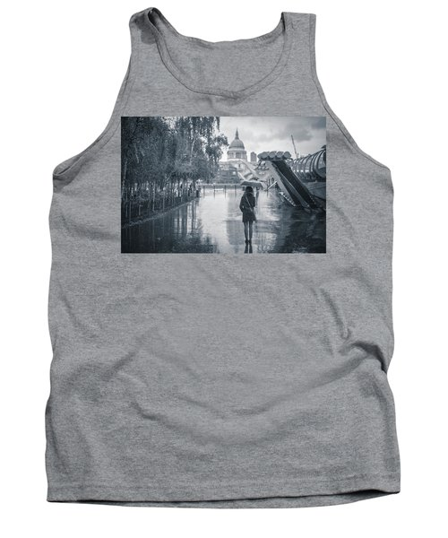 London Black And White Tank Top