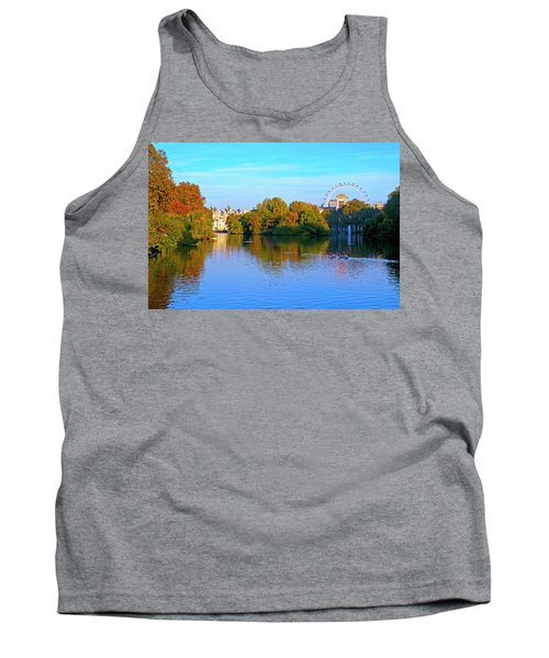 London Eye And Palace Tank Top by Haleh Mahbod