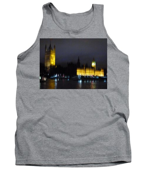 Tank Top featuring the photograph London Late Night by Christin Brodie