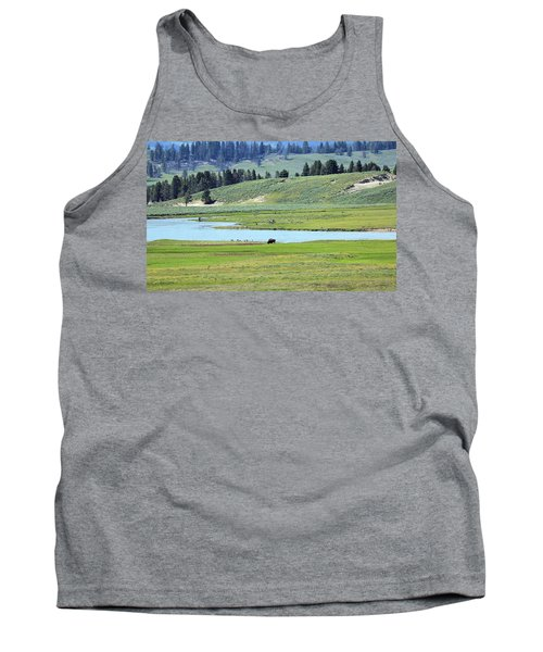 Lone Bison Out On The Prairie Tank Top