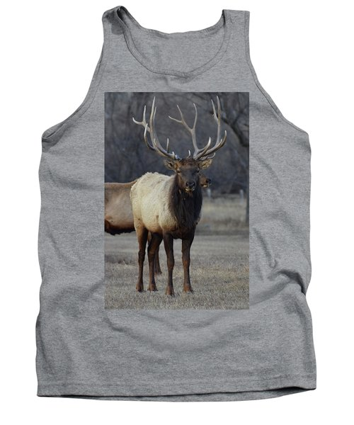 Tank Top featuring the photograph Lone Bull by Billie Colson