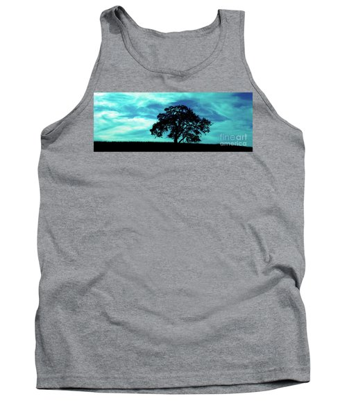 Tank Top featuring the photograph Lone Oak by Jim and Emily Bush