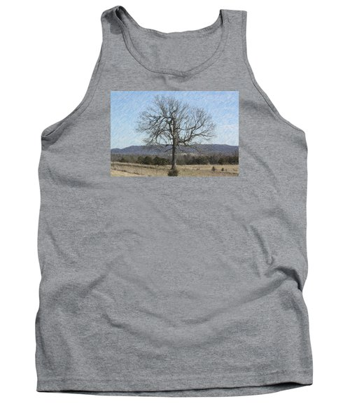 Tank Top featuring the photograph Lone Tree by Donna G Smith