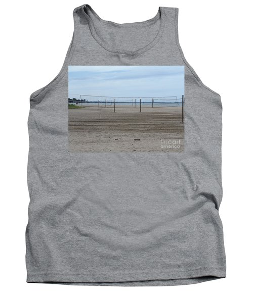 Lonely Beach Volleyball Tank Top by Erick Schmidt