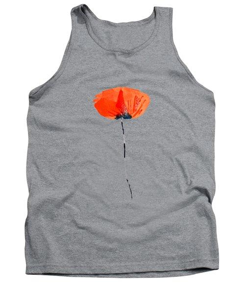 Lonely Poppy Tank Top