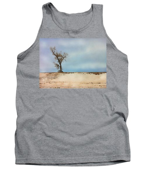 Tank Top featuring the digital art Lonely Sentinel  by Shelli Fitzpatrick