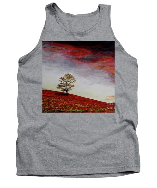 Tank Top featuring the painting Lonely Tree by Judy Kirouac