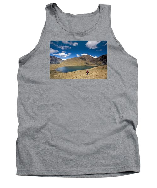 Lonely Walker At Punta Union Tank Top