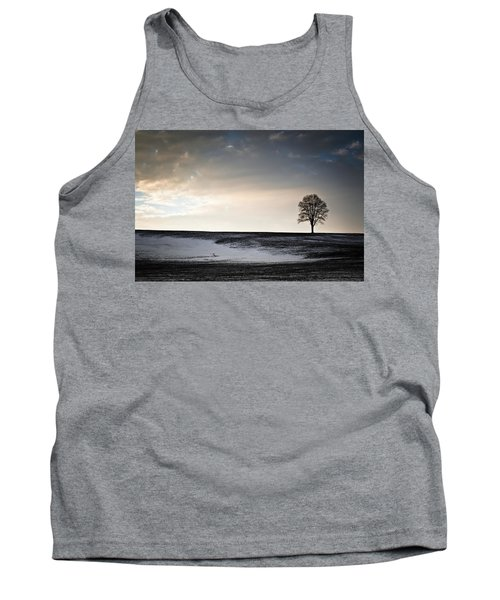 Lonesome Tree On A Hill IIi Tank Top by David Sutton