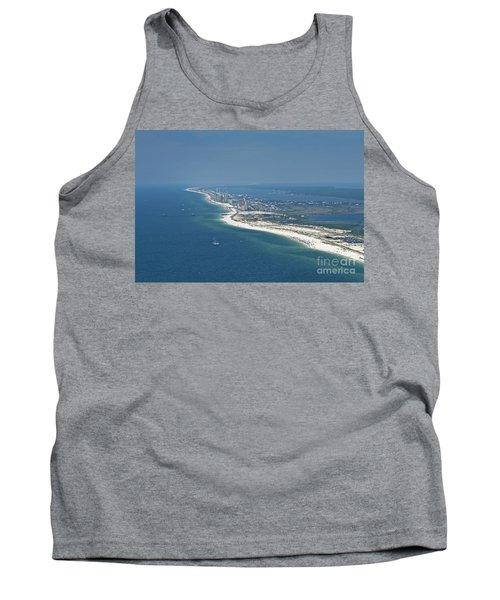 Long, Aerial, Beach View Tank Top