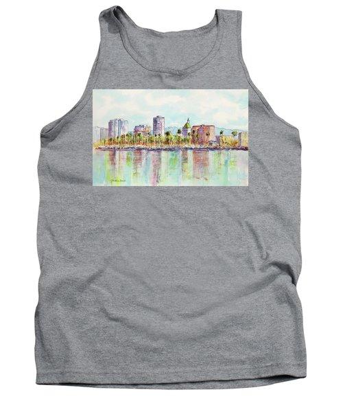 Long Beach Coastline Reflections Tank Top